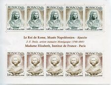 BLOC TIMBRE DE MONACO NEUF N° 9 ** LE ROI DE ROME NAPOLEON AJACCIO COTE 55 €