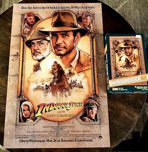 Indiana Jones And The Last Crusade Movie Poster Puzzle 500 Large Thick Pieces