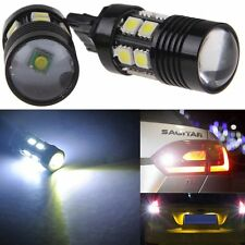 White 7440 992A W21W 12SMD CREE R5 LED Bulbs Backup Reverse Lights 10W T20