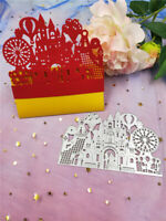 Stanzschablone Riesenrad Brautpaar Hochzeit Weihnachts Geburtstag Karte Album