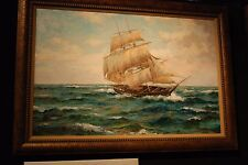 "Original SAILING Oil Painting    "" SEA MORE  "" Framed by ERIK PONTHIER"