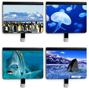 Penguin PU Leather Ipad Case, 360 Swivel Folio Cover For Apple I Pad, Fish/Whale