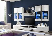 Living Room High Gloss Furniture Display Wall Unit Modern TV Unit Cabinet LAUREN