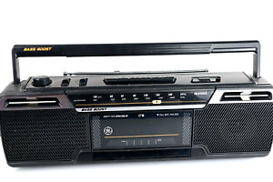 GE Bass Boost Vintage Boombox AM/FM Stereo Radio Cassette Player Model 3-5624A