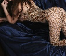 Bodystocking TUTINA INTIMO DONNA SEXY LINGERIE HOT TUTA LEOPARDATA.--