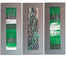 MK1 Art. Immagine Schermo Astratto Arte Pittura Acrilico grigio verde XXL