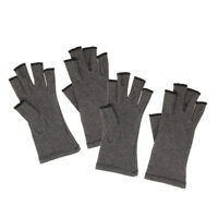 2 Pairs Cotton Unisex Compression Gloves Hand Arthritis Joint Pain Relief