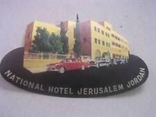 Unused Vintage National Hotel Jerusalem Jordan Luggage Label