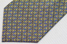 HERMES men's silk neck tie made in France