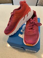Hoka One One Clifton 6 Womens Running Shoe Size 6 Poppy Red/Cactus FlowerNew