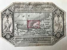 Etiquette Ch. Picquet  Géographe Seine inférieur Originale