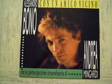 """Alessandro Bono - Andrea Mingardi -CON UN AMICO VICINO (12 """") Autografato NEW"""