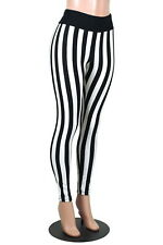 Full Length Black White Vertical Stripe Leggings XS to 2XL 3XL plus size pants