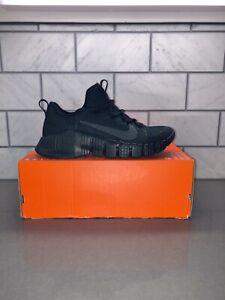Nike Free Metcon 3 Triple Black Training Shoe CJ0861-001 Men's Size 10 No Lid