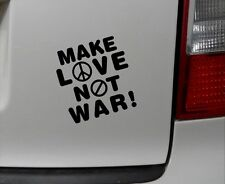 1x make love not war Aufkleber Auto Sticker Krieg Frieden Peace anti Terror