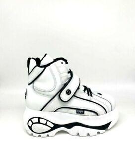 Buffalo London Classic Boots Shoes Plateau Schuhe 90er White/Black Weiß Schwarz