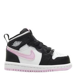 Nike Air Jordan 1 Mid TD Baby Toddler Shoes Arctic Pink Black 644507-103 Retro I
