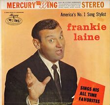 "FRANKIE LAINE ""ALL TIME FAVORITES"" POP VOCAL 50'S LP MERCURY WING 16110"