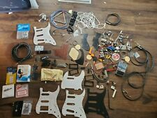 guitar parts pickup covers pickguards cable strings pedal jacks pots lot asis