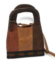 Mick-Gwend Paris Handbag, Tri Colour Design