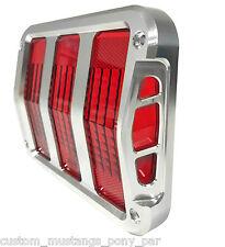 Mustang Taillight Bezel Surrounds BILLET Aluminium 1964 1965 1966 64 65 66 GT V8