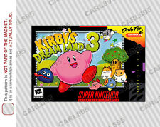 SNES - Kirby's Dream Land 3 Super Nintendo Box Art Car/Refrigerator Magnet