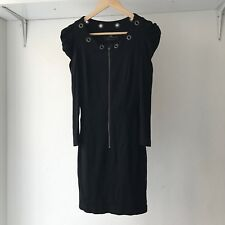 CUE Womens Black Bodycon Mini Dress, AU Size 8, Made in Australia