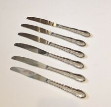 "Wm A Rogers Stainless Oneida Ltd Set of 6 Fenway Modern Hollow Knives 8 1/2"""