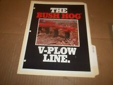 PY100) Bush Hog Sales Brochure 4 Pages - V-Plow Line