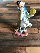 """Vintage Herco Professional 6"""" Tall Clown w Pie Hand Painted Figurine Free S/H"""