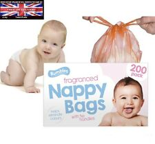 600 Disposable Nappy Sack Bin Bags Fragranced Handle Scented Perfumed 🇬🇧