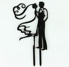 New Acrylic Mr &Mrs Bride and Groom Wedding Cake Topper Party Favors Decoration