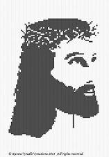 Crochet Patterns - JESUS CROWN OF THORNS SILHOUETTE Afghan Pattern **BEGINNER***