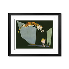 Calvin and Hobbes Nighttime Surprise Poster Print