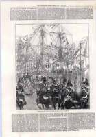 1872 The Prince Of Wales Arriving At Yarmouth Quay