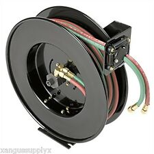 Oxy Acetylene Retractable Automatic Mountable 50' Hose Reel For Cutting Torches