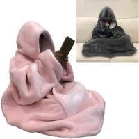 ×Hot Oversized Sherpa Wearable Blanket Hoodie | Super Soft Warm Comfy Reversible