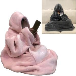 ×Hot Oversized Sherpa Wearable Blanket Hoodie   Super Soft Warm Comfy Reversible