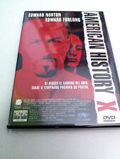 "DVD ""AMERICAN HISTORY X"" COMO NUEVO EDWARD NORTON EDWARD FURLONG"