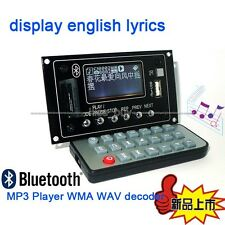 LCD 7-12V Bluetooth Audio Receiver MP3 Player WMA WAV decoder audio FM Radio