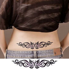 Hot Women Sexy Body Art Black 3D Butterfly Temporary Waterproof Tattoo Stickers