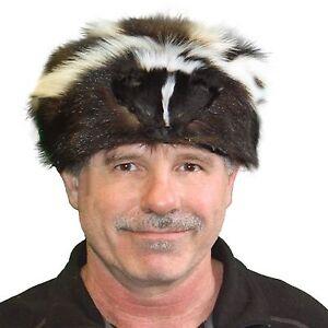 Glacier Wear Skunk Fur Davy Crockett Hat hts1785