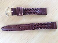 NEW KREISLER WATCH BAND BRACELET - Genuine Woven Leather 13mm 220102-13 Brown