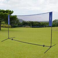 Portable Tennis Badminton Net System Indoor Sports Volleyball Training U0X1