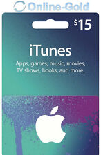 Carte-cadeau iTunes $15 USD - Apple Carte Prépayée 15 US Dollars Code Clé USA