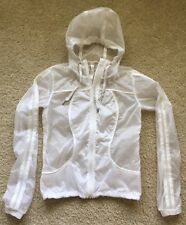 Lululemon Size 4 White Transparent-See Jacket Thin Sheer Windbreaker Run Yoga