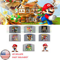 Mario Kart Super Mario 64 Party 1 2 3 Video Game Cartridge Nintendo N64