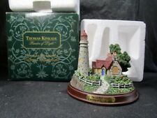"Thomas Kinkade ""The Light of Peace"" Lighted Lighthouse - Works - InBox"