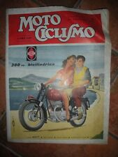 MOTO CICLISMO Settimanale GENNAIO 1956 GILERA 300 cc. Bicilindrica