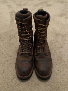 Redwing Loggermax 9-Inch Waterproof Safety Toe Boot Men's Size 11.5 E2